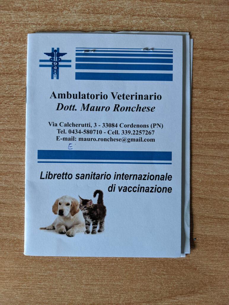 Vet Booklet Front Cover