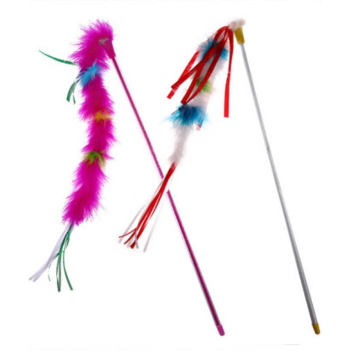 Cat Feather On Stick Toy
